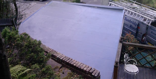 Glass Fibre Roof in Tonbridge